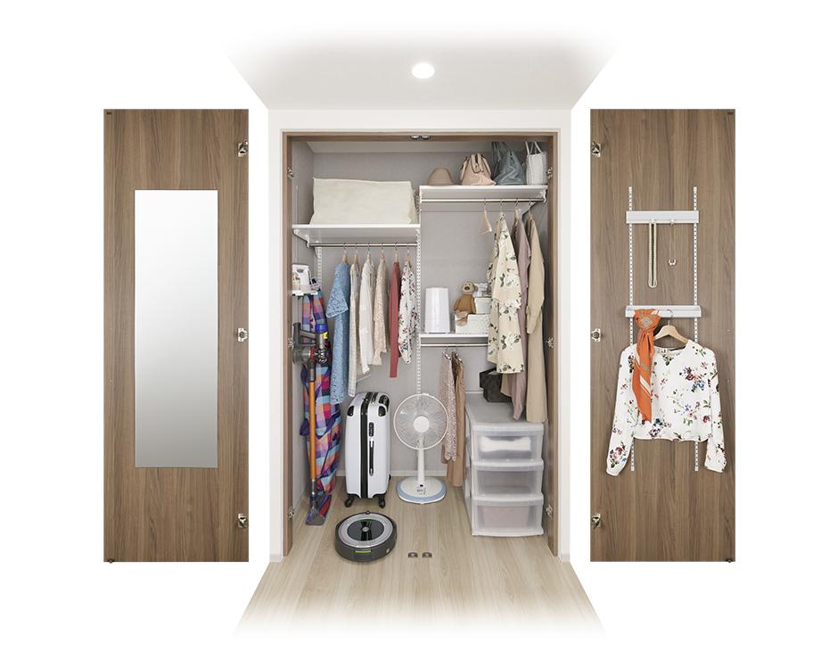 ライフスタイルを選ばない、自由な収納空間を実現