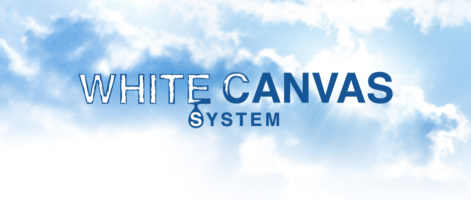 White canvas system