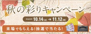 秋の彩りキャンペーン